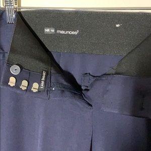 Maurice's size 14 Navy blue I am smart dress pants